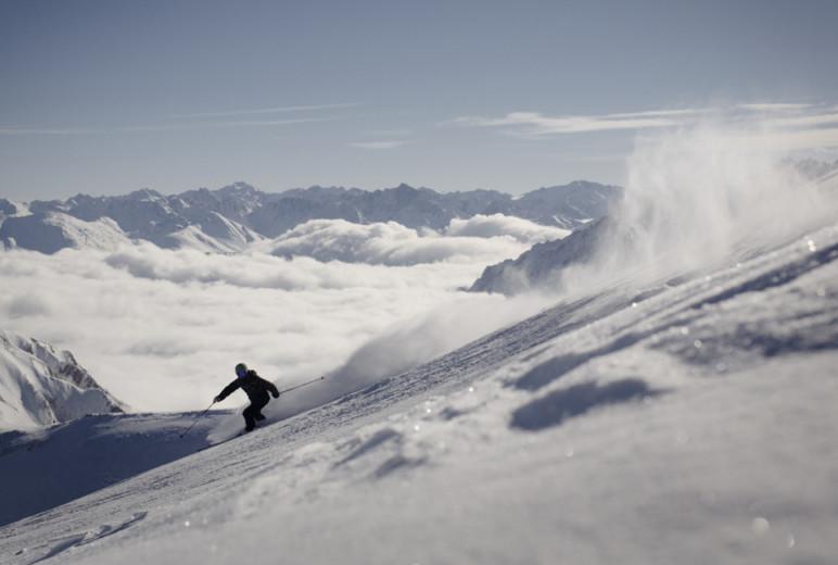 Ischgl, Skifahrer Alpin