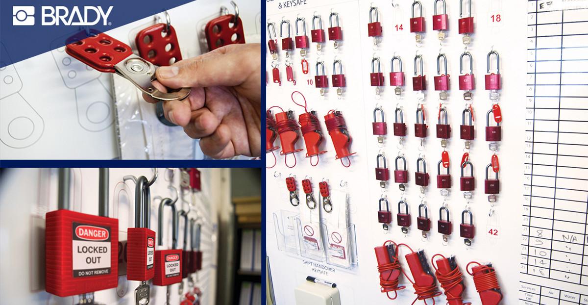 Sicherheit mit Lockout-Shadowboards von Brady