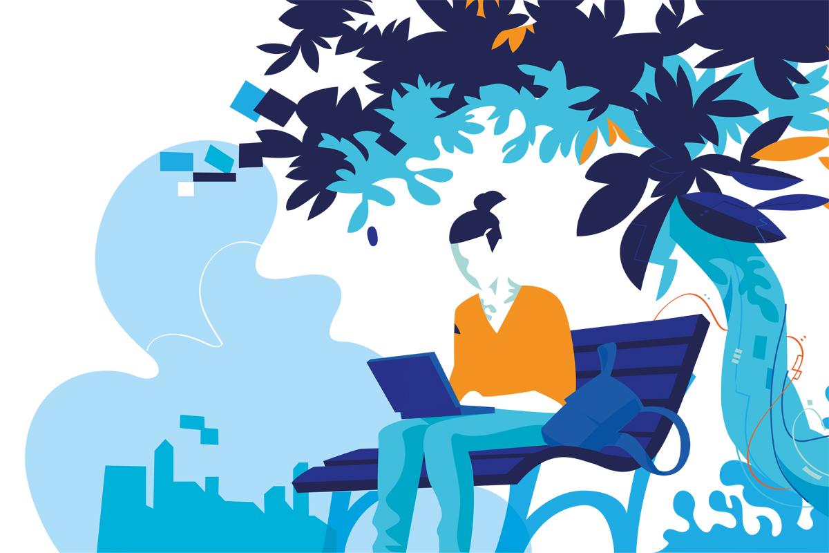 Illustration: Schöne neue Arbeitswelt?